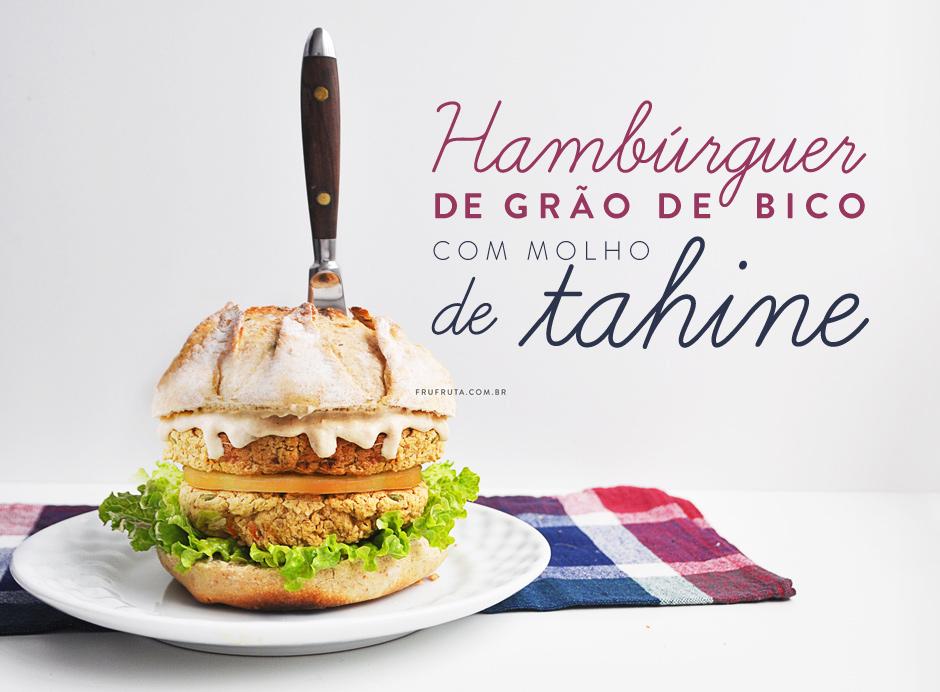 Hambúrguer de Grão-de-Bico com Molho de Tahine | Receita | Pati Bianco | Fru-fruta