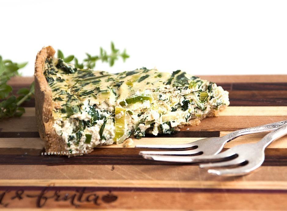 Torta Cremosa de Espinafre e Alho-Poró - Uma Delícia livre de Glúten, Leite e Ovos!