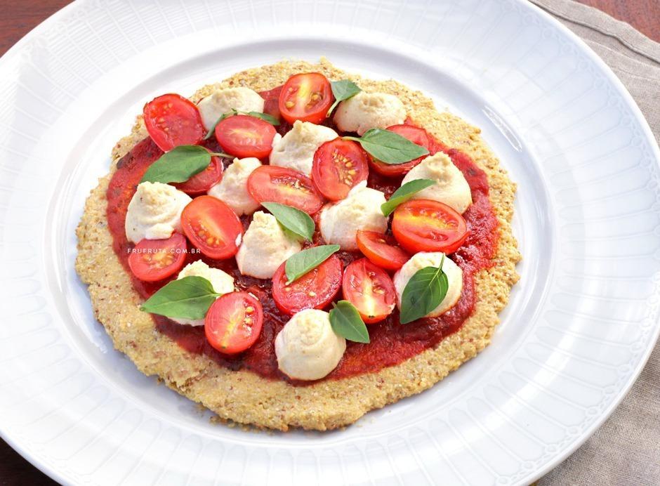 Pizza Lowcarb Funcional e Sem Glúten. Uma Opção Saudável e Deliciosa! | Receita | Video | Pati Bianco | Fru-fruta