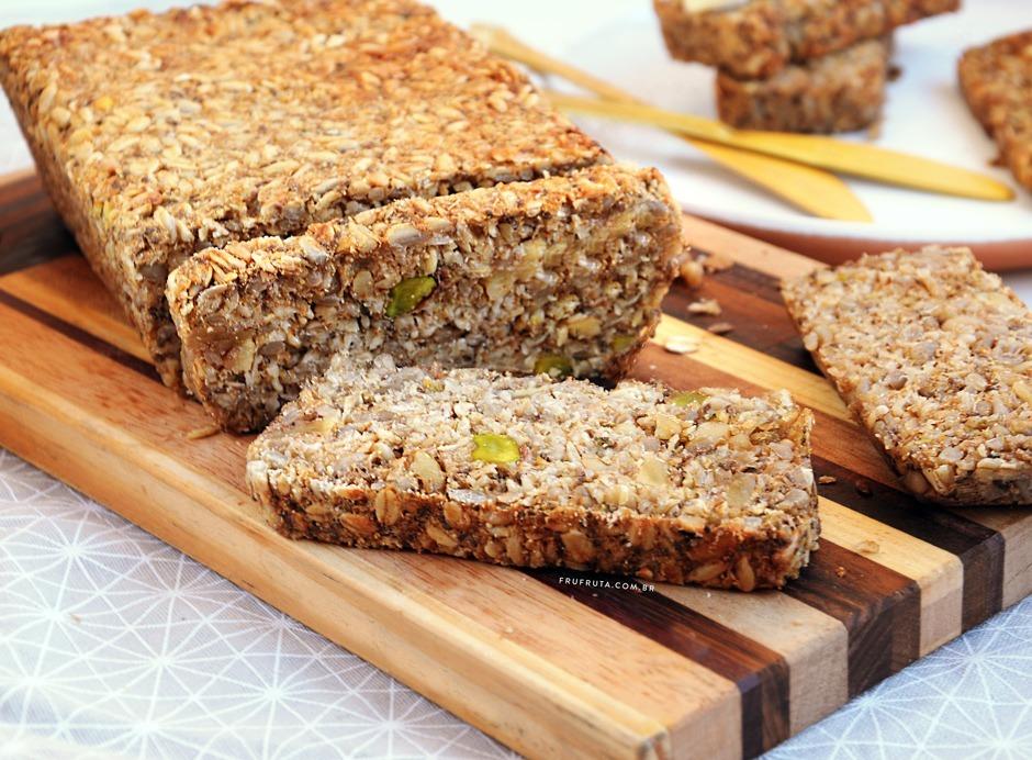 Pão de Sementes: sem glúten, lowcarb, sem fermento e SENSACIONAL! | Receita | Pati Bianco | Fru-fruta