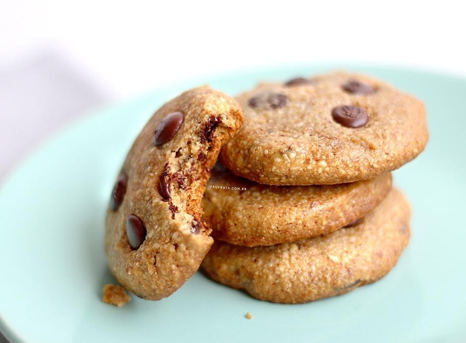 Cookies de Amêndoas, mel e chocolate. Só 5 ingredientes! Sem Glúten, Sem Leite e Sem ovos | Receita | Pati Bianco | Fru-fruta