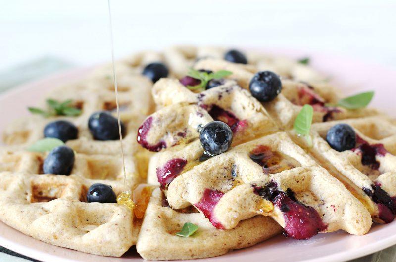 Waffle sem glúten, sem ovos e sem leite